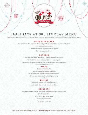 901 Lindsay | Holidays Dinner Menu - Thumbnail
